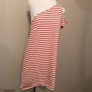 Anthropologie Maeve Marketa One Shoulder Dress